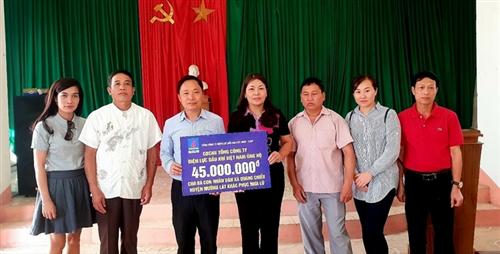 PV Power thực hiện công tác an sinh xã hội tại vùng lũ Mường Lát, Thanh Hóa