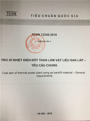 Công bố tiêu chuẩn quốc gia về tro xỉ nhiệt điện dùng san lấp